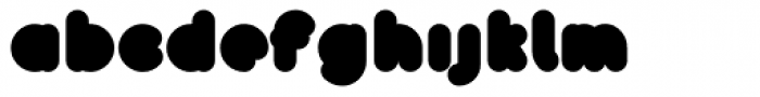 Bollard Font LOWERCASE
