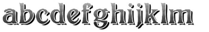 Bolton Commercial Engraved Font LOWERCASE