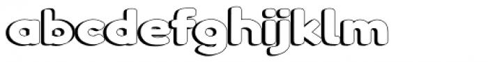 Boltz 3D Font LOWERCASE