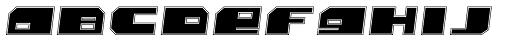 Bomb Outline Italic Font UPPERCASE