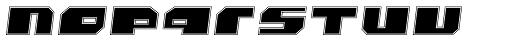 Bomb Outline Italic Font LOWERCASE