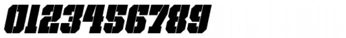 Bomburst ExtraCond Black Oblique Font OTHER CHARS