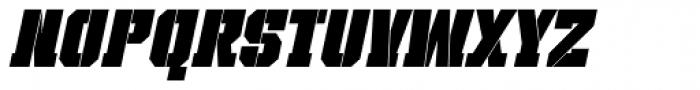 Bomburst ExtraCond Black Oblique Font UPPERCASE