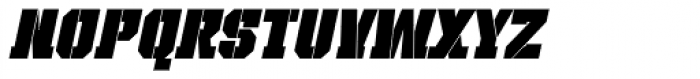 Bomburst ExtraCond Black Oblique Font LOWERCASE