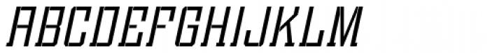 Bomburst ExtraCond Light Oblique Font UPPERCASE