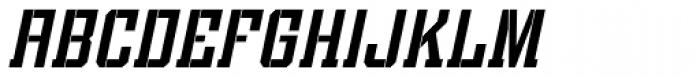 Bomburst ExtraCond Oblique Font UPPERCASE