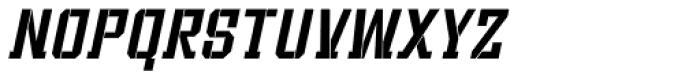 Bomburst ExtraCond Oblique Font LOWERCASE