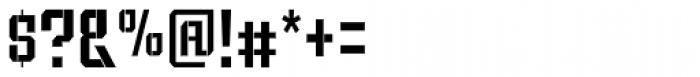Bomburst ExtraCond Regular Font OTHER CHARS