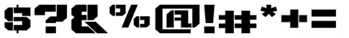 Bomburst ExtraWide Black Font OTHER CHARS