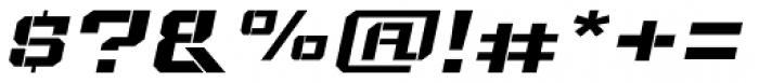 Bomburst ExtraWide Bold Oblique Font OTHER CHARS