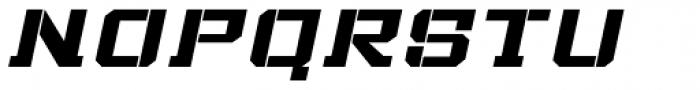 Bomburst ExtraWide Bold Oblique Font UPPERCASE