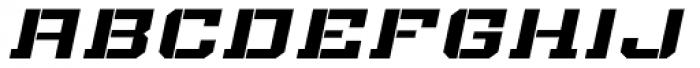 Bomburst ExtraWide Bold Oblique Font LOWERCASE