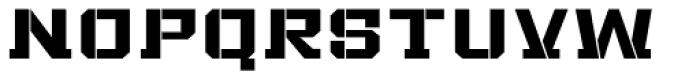 Bomburst Wide Bold Font LOWERCASE