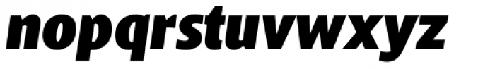 Bommer Sans Black Italic Font LOWERCASE