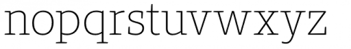Bommer Slab Rounded Thin Font LOWERCASE