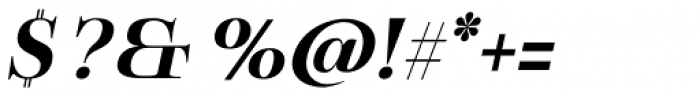 Boncaire Titling Bold Italic Font OTHER CHARS