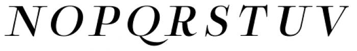 Boncaire Titling Med Italic Font UPPERCASE