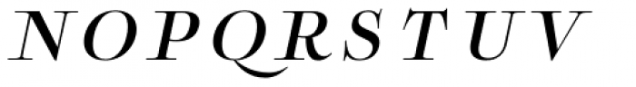 Boncaire Titling Med Italic Font LOWERCASE
