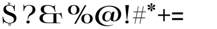Boncaire Titling Medium Font OTHER CHARS