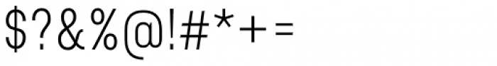 Bond 4F UltraLight Font OTHER CHARS