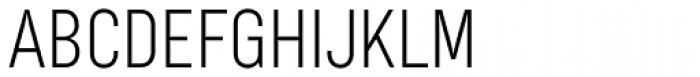 Bond 4F UltraLight Font UPPERCASE