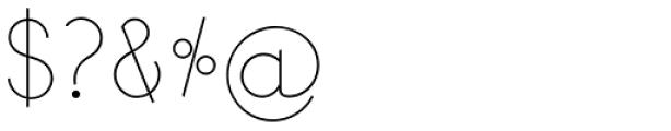 Bondoluo Display Font OTHER CHARS