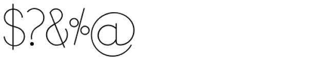 Bondoluo Light Font OTHER CHARS