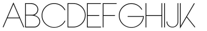 Bondoluo Light Font UPPERCASE