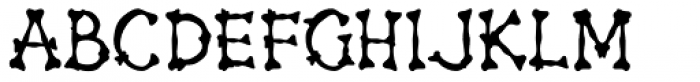 Bonehead JNL Font LOWERCASE