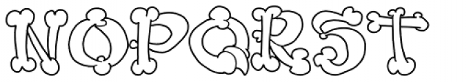 Bonerfied Font LOWERCASE