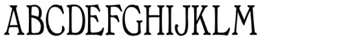 Bonning Narrow Bold Font UPPERCASE