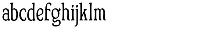 Bonning Narrow Bold Font LOWERCASE