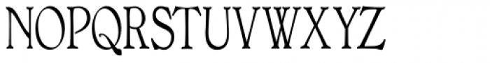 Bonning Narrow Regular Font UPPERCASE