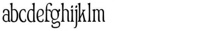 Bonning Narrow Regular Font LOWERCASE