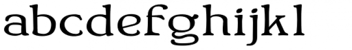 Bonning Wide Bold Font LOWERCASE