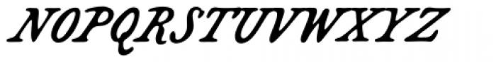 Bonnycastle Font UPPERCASE
