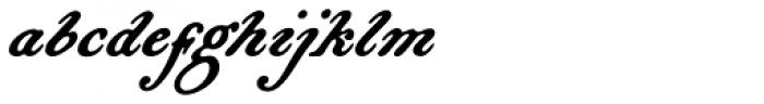 Bonnycastle Font LOWERCASE