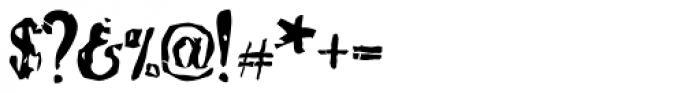 Bonray Regular Font OTHER CHARS