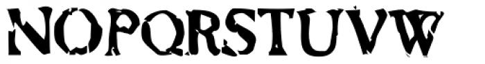 Bonray Regular Font UPPERCASE