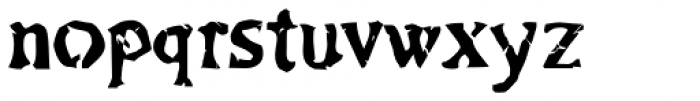 Bonray Regular Font LOWERCASE