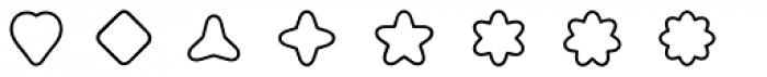 Boogie Outline2 Font UPPERCASE