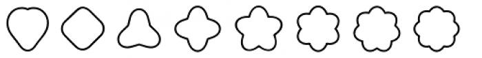 Boogie Outline3 Font UPPERCASE