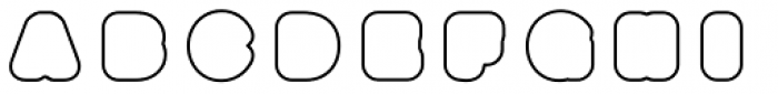 Boogie Outline3 Font LOWERCASE