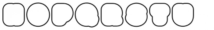 Boogie Outline4 Font LOWERCASE