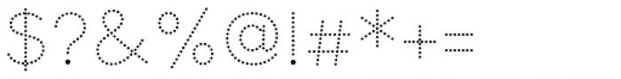 Bookbag Alt Dotted Font OTHER CHARS