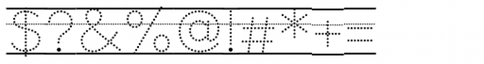 Bookbag  Alt Lined Dotted Font OTHER CHARS