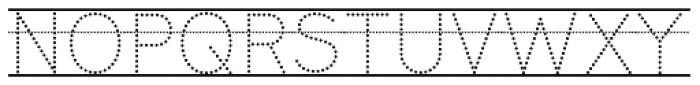 Bookbag  Alt Lined Dotted Font UPPERCASE