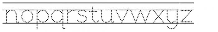 Bookbag  Alt Lined Dotted Font LOWERCASE