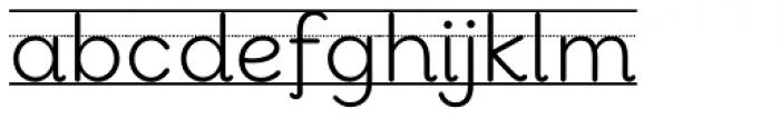 Bookbag Alt Lined Regular Font LOWERCASE