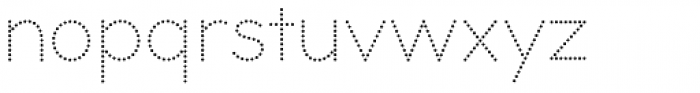 Bookbag Dotted Font LOWERCASE
